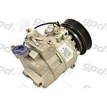 6512224 A/C Compressor Sold individually With clutch, 6-Groove Pulley