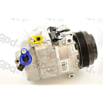6512226 A/C Compressor Sold individually With clutch, 5-Groove Pulley