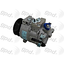 6512327 A/C Compressor Sold individually with Clutch, 6-Groove Pulley