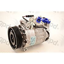 6512431 A/C Compressor Sold individually With clutch, 7-Groove Pulley