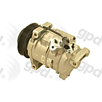 6512496 A/C Compressor Sold individually With clutch, 6-Groove Pulley
