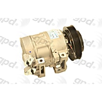 6512503 A/C Compressor Sold individually with Clutch, 6-Groove Pulley