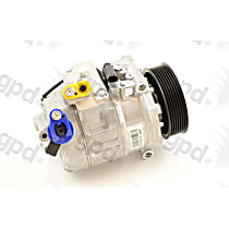 6512791 A/C Compressor Sold individually With clutch, 7-Groove Pulley