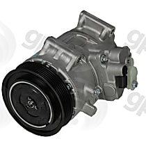 6513069 A/C Compressor Sold individually With clutch, 6-Groove Pulley