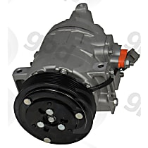6513144 A/C Compressor Sold individually With clutch, 6-Groove Pulley