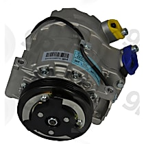 6513167 A/C Compressor Sold individually With clutch, 4-Groove Pulley