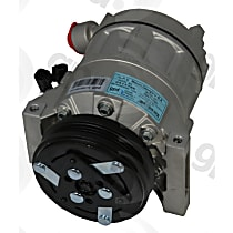 6513186 A/C Compressor Sold individually with Clutch, 3-Groove Pulley