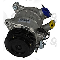 6513213 A/C Compressor Sold individually With clutch, 6-Groove Pulley