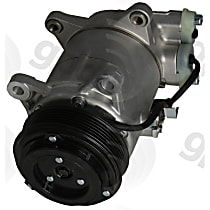 6513318 A/C Compressor Sold individually with Clutch, 6-Groove Pulley