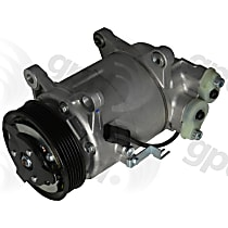 6513319 A/C Compressor Sold individually With clutch, 6-Groove Pulley
