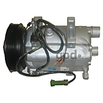 7512035 A/C Compressor Sold individually With clutch, 6-Groove Pulley