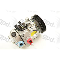 7512781 A/C Compressor Sold individually With clutch, 6-Groove Pulley
