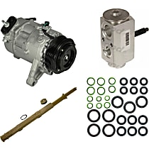 A/C Compressor Kit, Models Without Rear A/C, Includes (1) A/C Compressor, (1) Drier Desiccant Element, (1) A/C Orifice Tube, (1) A/C O-Ring and Gasket Seal Kit