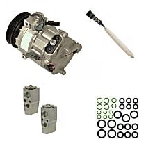 A/C Compressor Kit, CVC, Includes (1) A/C Compressor, (1) A/C Accumulator, (1) A/C Orifice Tube, (1) A/C O-Ring and Gasket Seal Kit