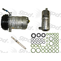 9611609 A/C Compressor Kit With clutch, 6-Groove Pulley