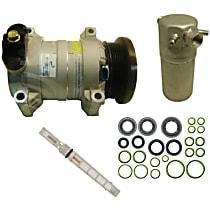 A/C Compressor Kit, HT6, Includes (1) A/C Compressor, (1) A/C Accumulator, (1) A/C Orifice Tube, (1) A/C O-Ring and Gasket Seal Kit