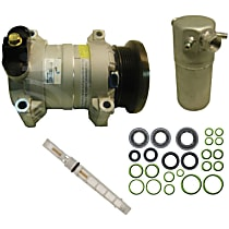 A/C Compressor Kit, HT6, Includes (1) A/C Compressor, (1) A/C Accumulator, (1) A/C Orifice Tube, (1) A/C O-Ring and Gasket Seal Kit