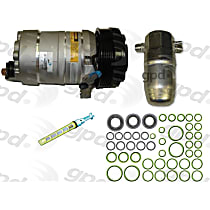 9611650 A/C Compressor Kit With clutch, 6-Groove Pulley