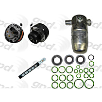 A/C Compressor Kit, Scroll Replacement, R4, Includes (1) A/C Compressor, (1) A/C Accumulator, (1) A/C Orifice Tube, (1) A/C O-Ring and Gasket Seal Kit