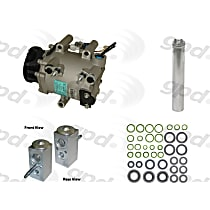 A/C Compressor Kit, Includes (1) A/C Compressor, (1) A/C Accumulator, (1) A/C Orifice Tube, (1) A/C O-Ring and Gasket Seal Kit