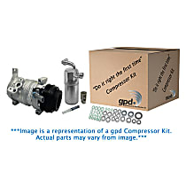 A/C Compressor Kit, 6 Groove, Includes (1) A/C Compressor, (1) A/C Accumulator, (2) A/C Orifice Tube, (1) A/C O-Ring and Gasket Seal Kit