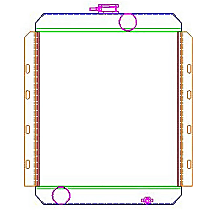 Aluminum Core Aluminum Tank Radiator, 18 x 17 x 2.68 in. Core Size