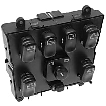 163-820-66-10 Window Switch (Quadruple) with Mirror Adjustment - Replaces OE Number 163-820-66-10