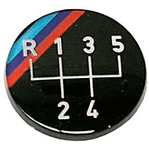 Emblem for Oval Shift Knob (M Stripes 5 Speed Pattern) (Adhered) - Replaces OE Number 25-11-1-220-954