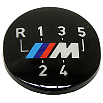 """Emblem for Oval Shift Knob (""""M"""" 5 Speed Pattern) (Adhered) - Replaces OE Number 25-11-1-221-613"""