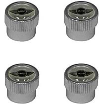 "GenuineXL 36-11-0-429-651 Wheel Valve Stem Cap Set with ""MINI"" Logo (Set of 4) - Replaces OE Number 36-11-0-429-651"