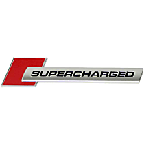 4F0-853-601 A 2ZZ Emblem SUPERCHARGED fender inscription (Chrome) - Replaces OE Number 4F0-853-601 A 2ZZ