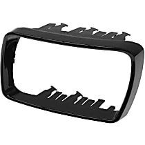 GenuineXL 51-16-7-002-319 Cover Cap Trim Ring for Door Mirror Glossy Black - Replaces OE Number 51-16-7-002-319