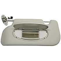 GenuineXL 51-16-7-339-377 Sun Visor (Illuminated) with Mirror (Light Gray) - Replaces OE Number 51-16-7-339-377