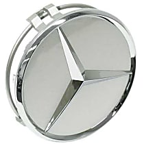 GenuineXL 6-6-47-0202 Center Hub Cap for Alloy Wheel (Burnished Silver Plastic) - Replaces OE Number 6-6-47-0202