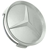 GenuineXL 6-6-47-0203 Center Hub Cap for Alloy Wheel (75 mm Gray Painted Plastic) - Replaces OE Number 6-6-47-0203