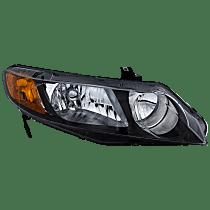 Sedan, Passenger Side Headlight, Without bulb(s) - (Except Hybrid Model)