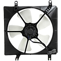 OE Replacement Radiator Fan - Fits 4cyl, Denso-type, Passenger Side