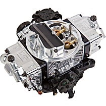 Carburetor 570 CFM Ultra Street Avenger Electric Choke Vacuum Secondaries 4150 Billet Color Black Shiny Finish