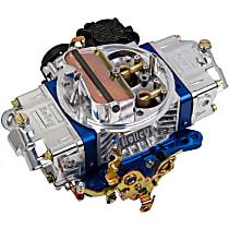 Carburetor 570 CFM Ultra Street Avenger Electric Choke Vacuum Secondaries 4150 Billet Color Blue