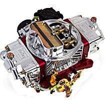 Carburetor 570 CFM Ultra Street Avenger Electric Choke Vacuum Secondaries 4150 Billet Color Red