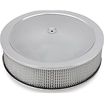 120-4145 Air Cleaner Assembly - Chrome, Stamped steel, Universal, Sold individually