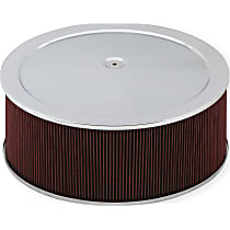 120-4160 Air Cleaner Assembly - Chrome, Stamped steel, Universal, Sold individually