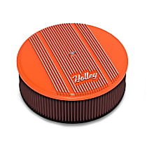 120-129 Air Cleaner Assembly - Orange, Steel, Universal, Sold individually