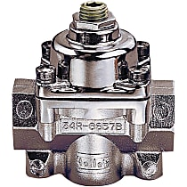 Holley Carburetor Bypass Style 12-803 Fuel Pressure Regulator, 4.5-9 psi, Chrome, Gas, Non-Return, Sold Individually