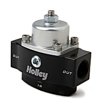 Holley HP Billet 12-840 Fuel Pressure Regulator, 4.5-9 psi, Anodized black and clear, Gas, Non-Return, Sold Individually