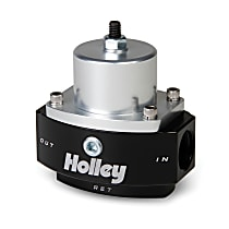 Holley HP Billet 12-845 Fuel Pressure Regulator, 4.5-9 psi, Anodized black and clear, Gas, Return, Sold Individually