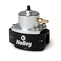 Holley HP Billet 12-846 Fuel Pressure Regulator, 40-70 psi, Anodized black and clear, Gas, Return, Sold Individually