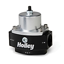 Holley Dominator Billet 12-847 Fuel Pressure Regulator, 4.5-9 psi, Anodized black and clear, Gas, Return, Sold Individually