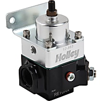 Holley Double Adjustable Carbureted 12-883 Fuel Pressure Regulator, 4-9 PSI, Anodized black and clear, E85/Alcohol, Return, Sold Individually