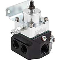 Double Adjustable Carbureted Fuel Pressure Regulator, 4-9 PSI, Anodized black and clear, E85/Alcohol, Return, Sold Individually